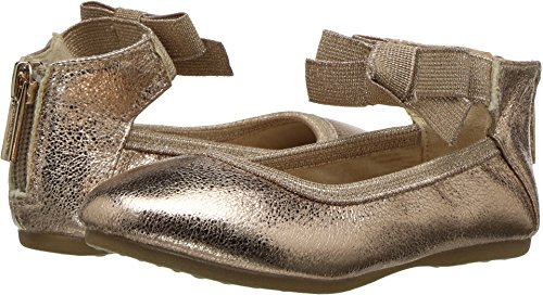 (Kenneth Cole REACTION Girls Bow-t, Rose Metallic, 8 M US Little Kid)