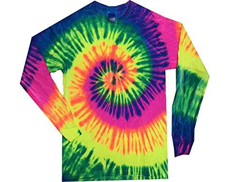Colortone Tie Dye L/S LG Neon Rainbow