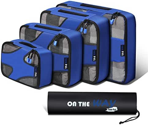 Packing Cubes-4 Set Travel Luggage Packing Organizers with Laundry Bag