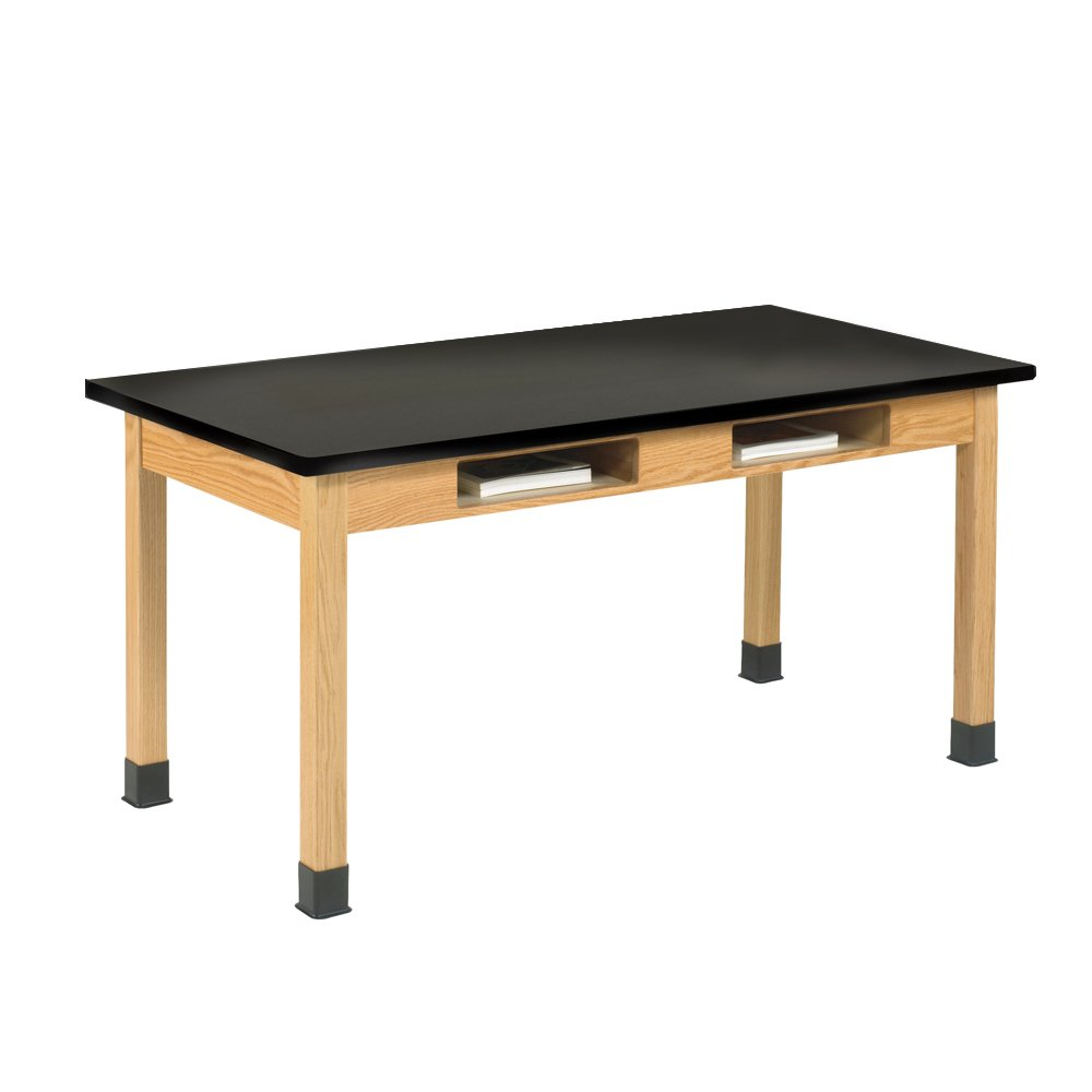 Diversified Woodcrafts C7102K30N UV Finish Solid Oak Wood Table with Book Compartment and ChemGuard Top, 48'' Width x 30'' Height x 24'' Depth by Diversified Woodcrafts (Image #1)