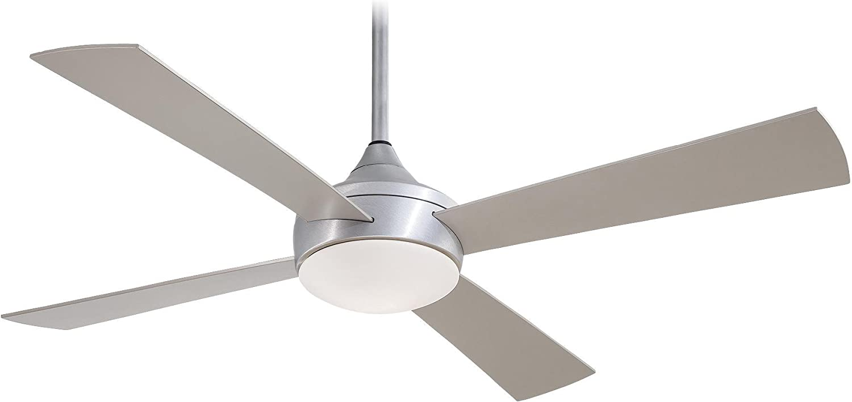 "Minka-Aire F523-ABD, Aluma, 52"" Outdoor Ceiling Fan with Light & Rmt Control, Brushed Aluminum"