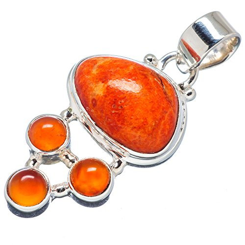 Ana Silver Co Sponge Coral, Carnelian 92 - Sponge Coral Pendant Shopping Results