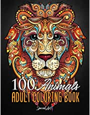 100 Animals: An Adult Coloring Book with more than 100 beautiful animal mandalas: lions, tigers, exotic birds, elephants, wolves, giraffes and much more.