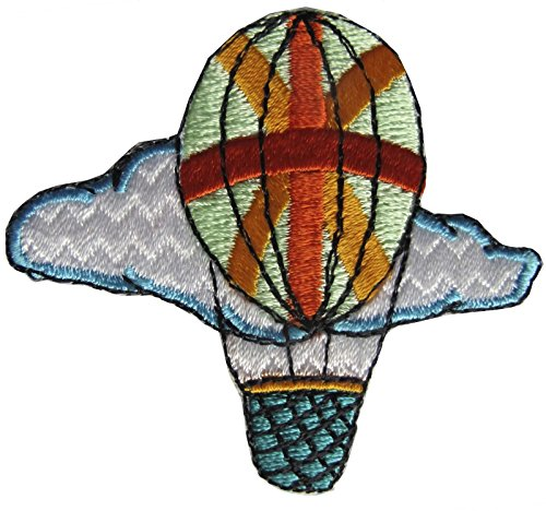 (ShopForAllYou Patches Rolling Jackets Red,Green,Rainbow Color Hot-Air Balloon Embroidery Iron On Applique Patch (2763))