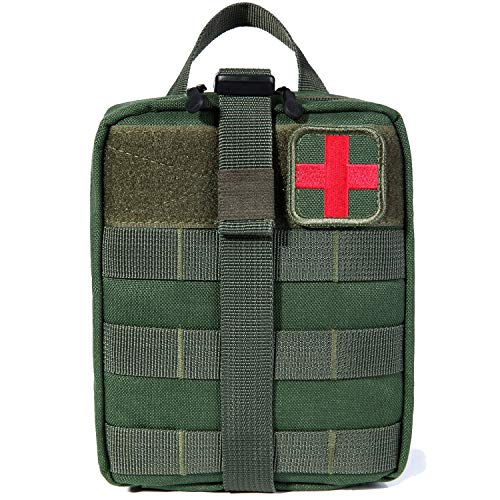 Bagail Rip-away Emt Pouch Molle Pouch Ifak Pouch Medical First Aid Kit Utility Pouch 1000D Nylon (OD)