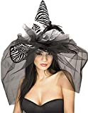 Rubie's Women's Standard Witch Hat with Feathers and Veils, Multicolor, One Size