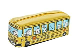chytaii lápiz funda de lona Estudiante pluma bolso de la caja estuche bolsa de papelería cosméticos maquillaje herramienta bolsas para monedas, amarillo