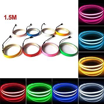Amazon.com: FEELDO 10 Colors 100CM14MM 1m Electroluminescent Tape EL ...