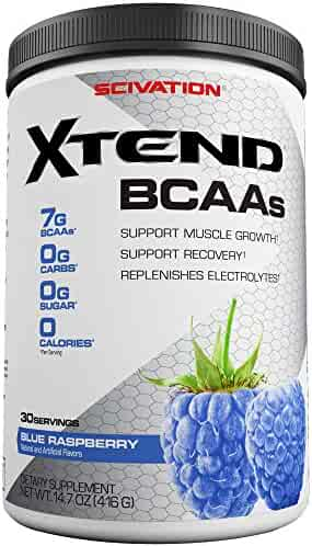 Scivation Xtend BCAA Powder, Branched Chain Amino Acids, BCAAs, Blue Raspberry, 30 Servings