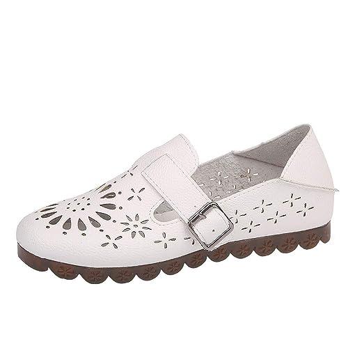 Mocasines Zapatos Planos de Mujer QinMM Merceditas de Fiesta de Oficina de Verano Boda Vestir: Amazon.es: Zapatos y complementos