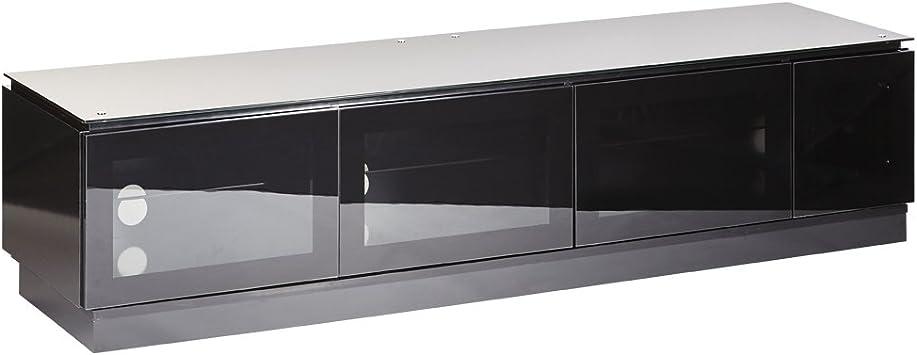 mmt d1800 3 noir meuble tv avec porte