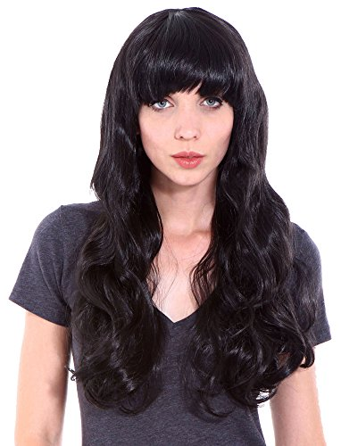 [Wigs for Women Black Costume Wigs Curly Halloween Cosplay Wig] (Halloween Costumes Black Wig)