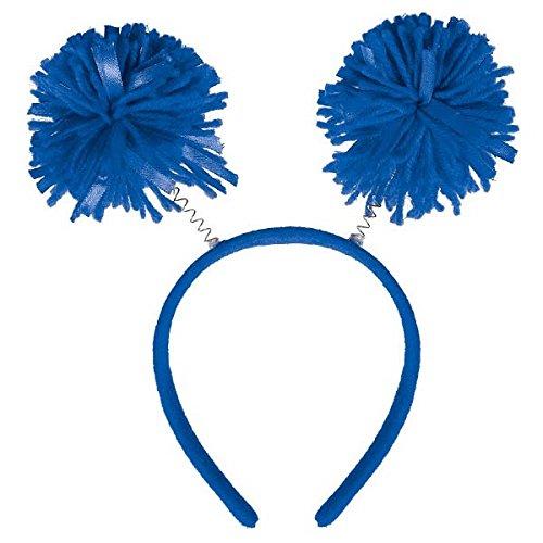 Amscan Pom Pom Headbopper, Party Accessory, Blue -