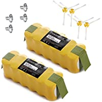 Powerextra Upgraded 3800mAh Roomba Battery for Irobot Roomba 500 510 530 532 535 540 545 550 552 560 562 570 580 581 582 585 595 600 620 630 650 660 700 760 770 780 790 800 870 880 R3 80501(2 pack)