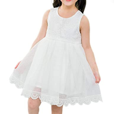 71e605d47643 ANATA Flower Girls Dress Kids Party Dresses Lace Tulle Sleeveless Wedding  Pageant Dresses Toddler Gowns 1
