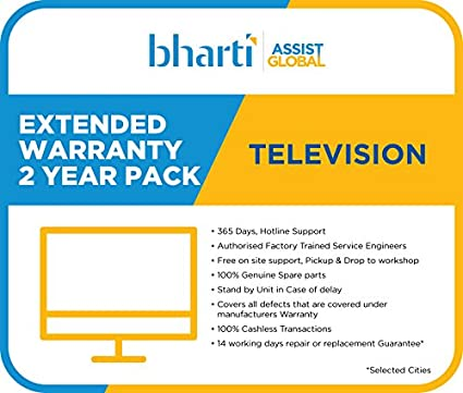 Bharti Assist 2 Years Extended Warranty for TV: Amazon.in: Electronics