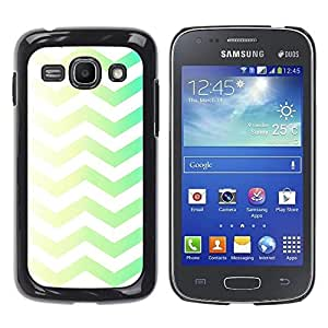 Be Good Phone Accessory // Dura Cáscara cubierta Protectora Caso Carcasa Funda de Protección para Samsung Galaxy Ace 3 GT-S7270 GT-S7275 GT-S7272 // Green Yellow Chevron White Clean