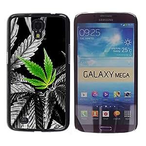 Paccase / SLIM PC / Aliminium Casa Carcasa Funda Case Cover para - Cannabis Weed Plant Hemp Nature Love - Samsung Galaxy Mega 6.3 I9200 SGH-i527