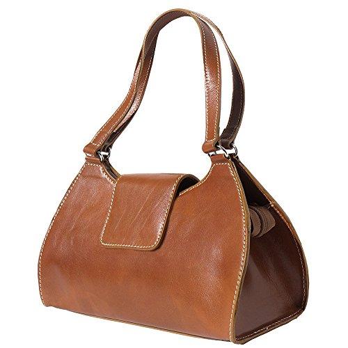 Fuego Del 6414 De Asa Bolso Becerro Doble Market Leather Con Florence Genuino Cuero zqP7W
