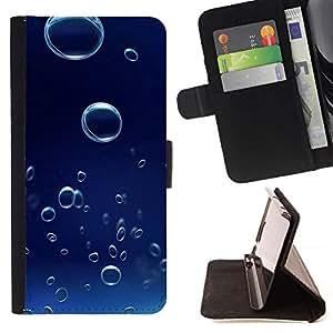 For Sony Xperia Style T3 Case , Blue Water 6 gota- la tarjeta de Crédito Slots PU Funda de cuero Monedero caso cubierta de piel