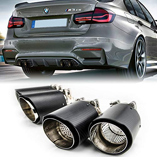 Carbon Fiber Exhaust Tips Fit BMW M-Power F80 M3/ F82 F83 M4, 3.5