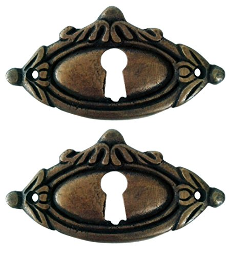 Victorian Style Keyhole Cover Escutcheons 2 ()