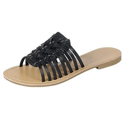 Forever Collection Womens Woven Huarache Flat Sandal Open Toe Slip On | Slides