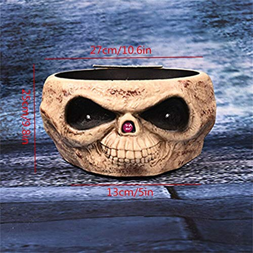 Electric Fruit Bowl with Jumping Hand Make Horror Voice Scary Eyes Candy Bowl Halloween Decorations for Home Office Ktv Bar Club]()