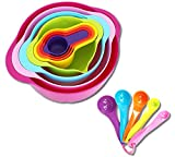 Tenta Kitchen 13 Piece Mixing Bowl Set with Measuring Cups and Spoons - ...