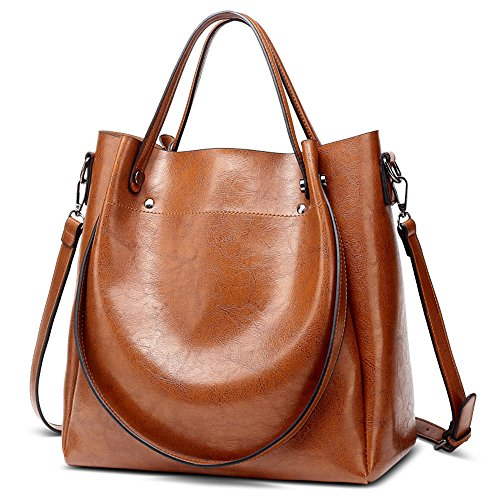Rosa Retro Solo Hombro La Cera Gwqgz Lady Bolsa Handbag Sesgar Aceite Brown Moda Casual Spanning 8Odq4SE