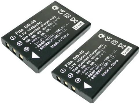 【堀出】 2個セット Panasonic VW-VBA10 VBA20 VBA21 / Ricoh DB-40 互換バッテリー