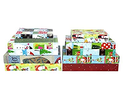 Iconikal Pre-Printed Holiday Gift Boxes 12-Pack