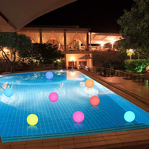 ELlight LED Floating Pool Lights, RGB(16 Colors) Color Changing Ball Lights with Timer, IP67 Waterproof for Pool Decor Outdoor Indoor Holiday Party Lights[6 Packs]