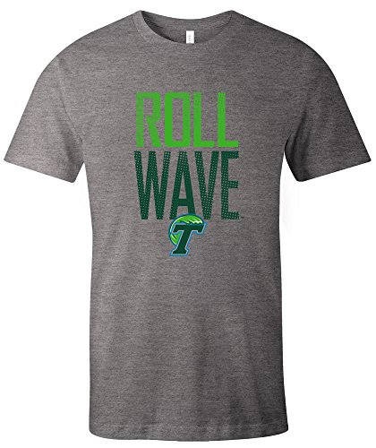 NCAA Tulane Green Wave Dotted Phrase Short Sleeve Triblend T-Shirt, (Tulane Green Wave Shirt)