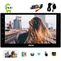 EinCar Android 6.0 Car Stereo 2 Din In Dash 7 inch Capacitive Touch Screen GPS Navigation Radio Receiver Bluetooth Head Unit Support WiFi Phone Mirroring External Microphone OBD2 with Backup Camera