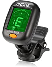 Guitar Tuner, Meeland Mini Clip-on Tuner for Guitar/Bass/Ukulele and Violin/Anti-Interference Color LCD Display/Battery Included/Auto Power Off (button cell)