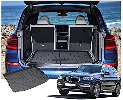 San Auto Car Floor Mat for BMW X3 G01 X4 G02 Custom Fit 2018 2019 2020 Full Black Auto Rubber Floor Liner Carpet All Weather Protection Heavy Duty Odorless