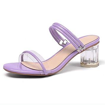 bd7bfe32dcb Sandalias de mujer Zapatos de cristal para mujer Sandalias de cuero para  mujer Zapatos de mujer ...