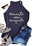 Mamacita Needs a Margarita Funny Tank Tops Women Crew Neck Sleeveless Shirt Cami Size L (Gray)