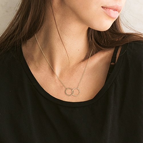 Friendship for Eternity Necklace, Two Interlocking Infinity Circles Gift For Best Friend, Sister Mother, Daughter Gold for Women | SPUNKYsoul Collection