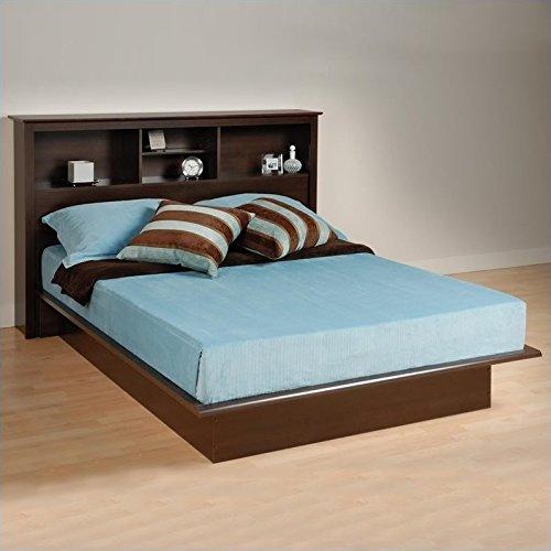 Prepac Manhattan Double/Full Bookcase Platform Bed in Espresso (Manhattan Platform Bed)