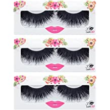 LashXO Lashes- Samantha-3 PK Premium Quality False Eyelashes- Compare to Shu Uemura, MAC, Make Up For Ever, and House of Lashes