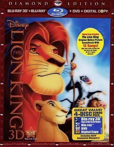 The Lion King 3D: Diamond Edition (Special Edition Blu-ray 3D + Blu-ray + DVD + Digital Copy with Bonus Original Motion Picture Soundtrack) by Walt Disney Studios Home Entertainment (The Lion King 3d Diamond Edition Blu Ray)