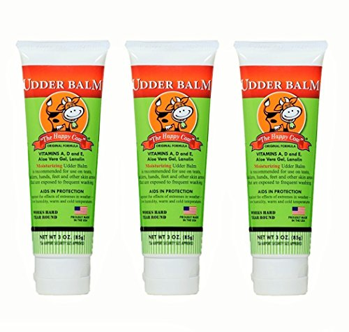 Moisturizing Happy Moisturizer - The Happy Cow Moisturizing Udder Balm - 3oz tube (3 Pack)