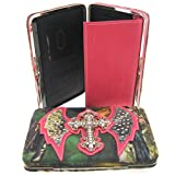 Rhinestone Cross Angel Wings Camouflage Pink Trim Camo Clutch Purse Wallet (Pink Wallet)
