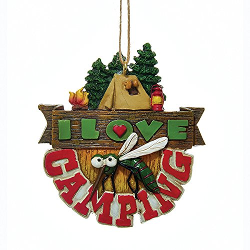 Kurt Adler, I Love Camping made our list of the most unique camping Christmas tree ornaments to decorate your RV trailer Christmas tree with whimsical camping themed Christmas ornaments!