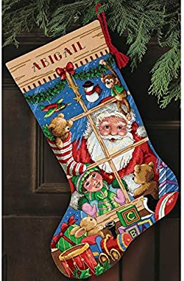 Dimensions Christmas Stocking Kits.Dimensions D08818 Santa S Toys Christmas Stocking Counted