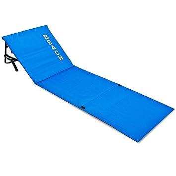 matelas de plage avec dossier bleu transat 160x54x38 cm plage vacances plage - Transat De Plage