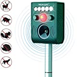 Animal Pest Repellent,Wikoo Effective Solar Battery Powered Outdoor Ultrasonic Pest and Animal Repellent, Pest and Animal Control Rodent