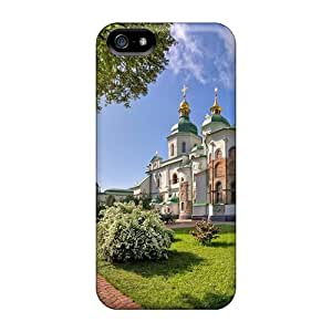 Awesome EMM-540-Mwz HeKRo Defender Tpu Hard Case Cover For Iphone 5/5s- Church